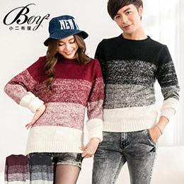針織衫簡約漸層情侶毛衣