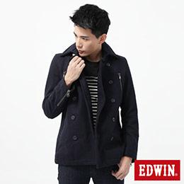 EDWIN 麥呢毛料 長版防寒外套