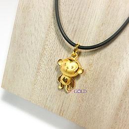 福氣小猴黃金墜子