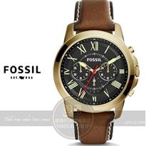 FOSSIL美國品牌Grant 純粹男人魅力真皮腕錶