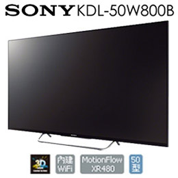 SONY 50吋液晶電視  Wifi內建 KDL-50W800B