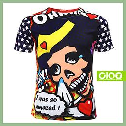【骷髏女超人】原創潮流設計T恤