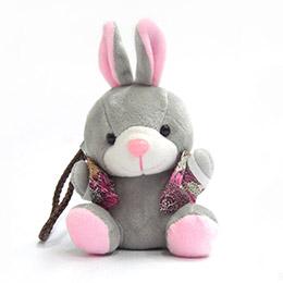 超卡哇伊絨毛兔子6000mAh行動電源