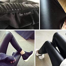 韓國魔力彈力顯瘦皮褲
