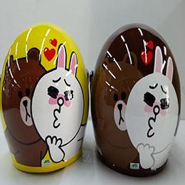 熊大Love兔兔 3/4安全帽附鏡片