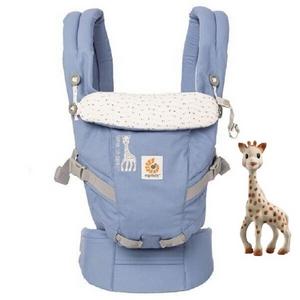Ergobaby嬰兒背帶+蘇菲固齒器