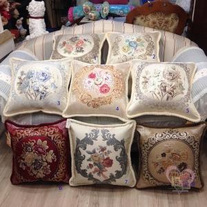 比利時刺繡抱枕套50x50cm