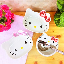 Hello Kitty 陶瓷造型碗湯勺盤組