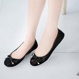 蕾絲蝴蝶結娃娃鞋