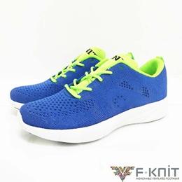 亮彩藍  低筒編織休閒鞋
