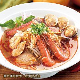 酸辣海鮮&牛肉河粉+月亮蝦餅