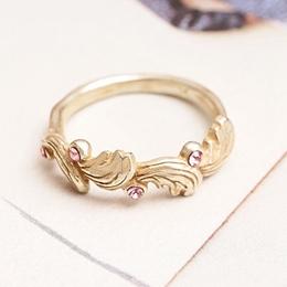 日本天使庇護風喚羽毛戒指