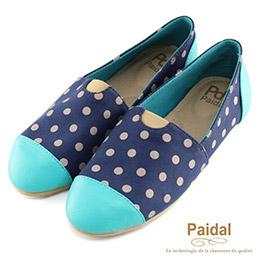 甜美普普風舒適樂福鞋(藍)