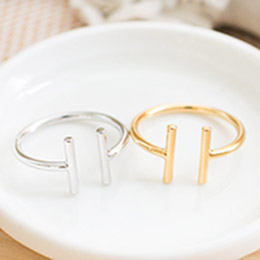 簡約風尚II字符號造型戒指