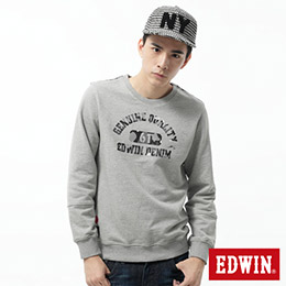 EDWIN 61迷彩印花 大絨長袖厚T