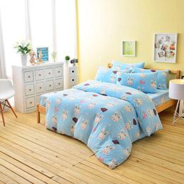 超保暖搖粒絨雙人床包三件組