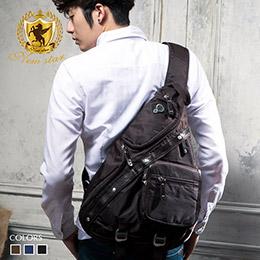 質感配皮側背包單肩背包