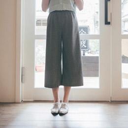 無印色系鬆緊寬褲