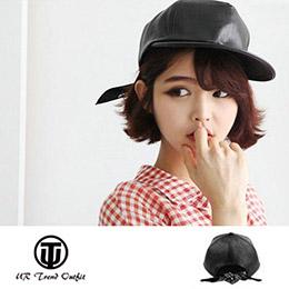 韓版潮流皮質頭巾棒球帽