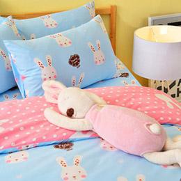 【3M】吸濕排汗★涼感迷戀兔床包組