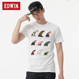 EDWIN 鰭板印花 短袖T恤