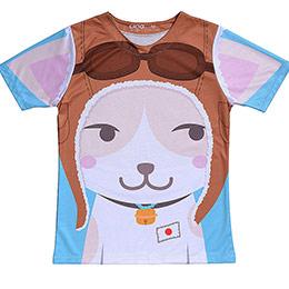 Coolmax原創潮流T恤-神風貓