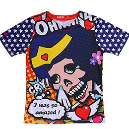 Coolmax原創潮流T恤-骷髏女超人