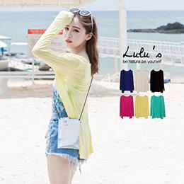 韓製多色針織長版罩衫(6色)