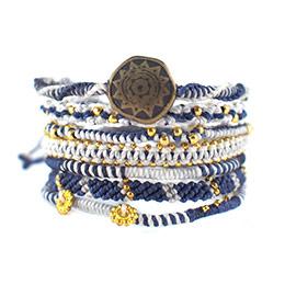 【wakami】地球民族風海洋經典編織手環七條