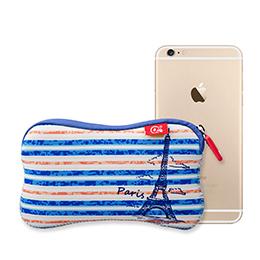 iPhone 手感拉鏈手機套.旅遊系列(巴黎)