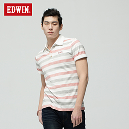 EDWIN 復古條紋POLO衫