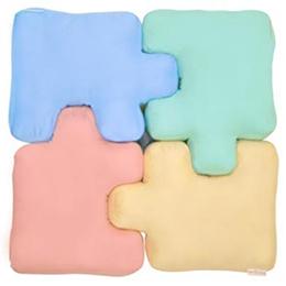 【布學無數】4色逗趣拼圖枕