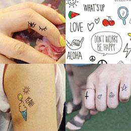 韓版逗趣簡易免刺青紋身貼紙