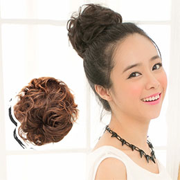 QQ捲鳥巢式髮包