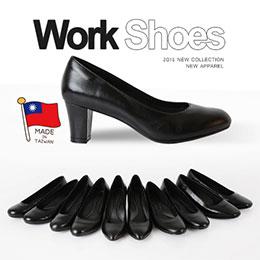 OL空姐靜音職場平底鞋(羊皮製)