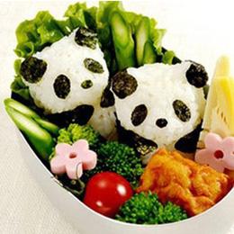 可愛熊貓寶寶飯糰壓模組