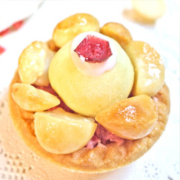 夏威夷鳳梨山+變心牛軋糖草莓玫瑰