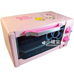 Hello Kitty 電烤箱《粉.廚師.點點》800W雙旋鈕設計