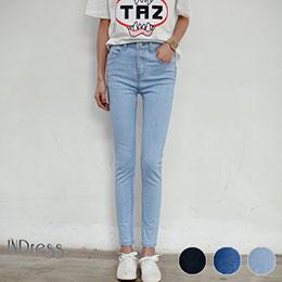 單寧彈力修身牛仔褲(3色)