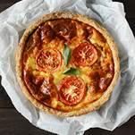 馬札瑞拉番茄鹹派(6吋)超厚料!! / 法國Isigny奶油 / 牧場直送新鮮雞蛋 / 手工塔皮 / 新鮮蔬菜 / 最適合下午茶、野餐、聚會一起享用! 0