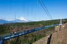 日本第一長的步行者專用吊橋 可遠眺富士山美景