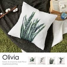 東稻家居簡約北歐風植物圖案棉麻布抱枕