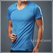 ELLE HOMME吸濕排汗短袖T恤/男內衣-藍/黑/白《超值二件組》【中揚精品】EA8401 0