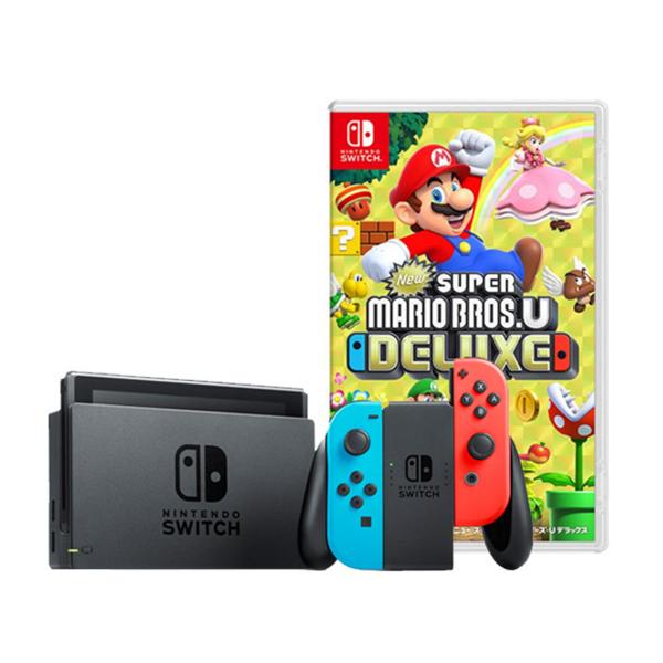 任天堂Switch紅藍主機+New 超級瑪利歐兄弟豪華版