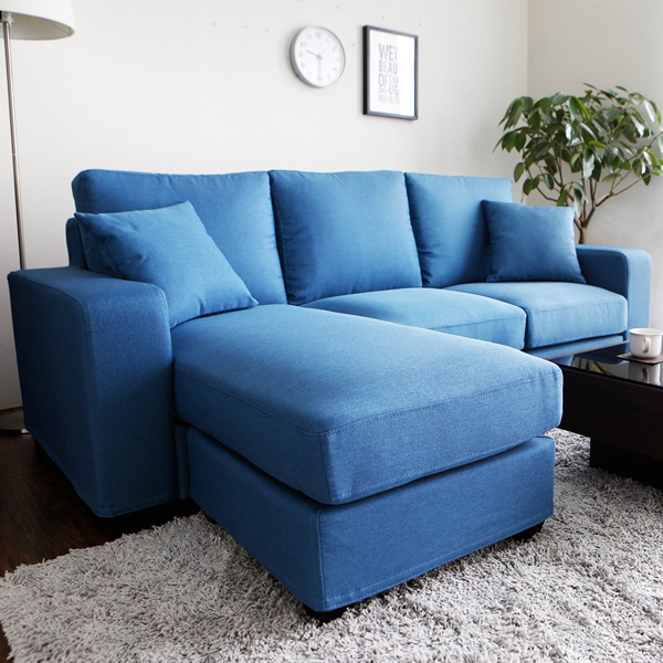 日式桑妮亮彩舒適L型沙發