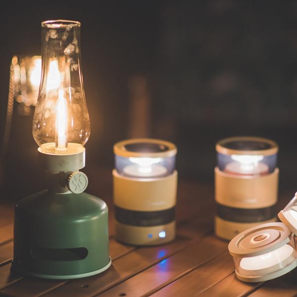 藍牙音響+LED檯燈