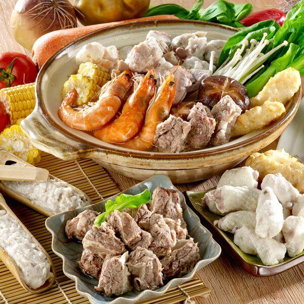 清燉牛肉湯X澎湃鍋物四種(花枝條/黑輪/螺旋丸/花枝漿) 湯底料