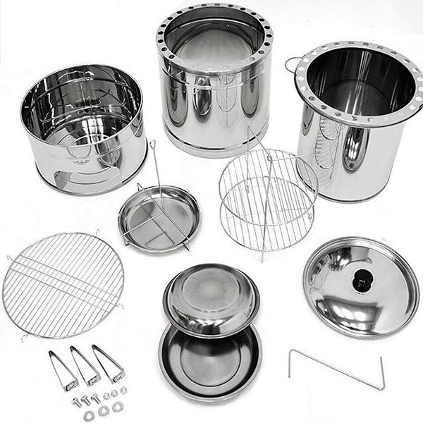 不鏽鋼多功能桶仔烤雞爐