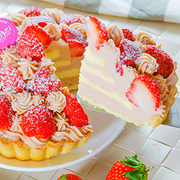 甜心草莓塔6吋