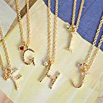 日本金褸絲字母項鍊